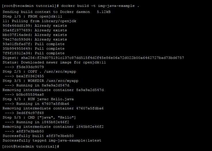 docker build java example