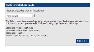 cacti-install-step-2