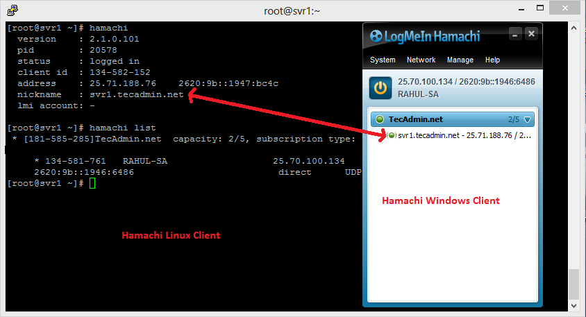 How to set up logmein (hamachi) vpn on ubuntu 16. 04, centos 7.