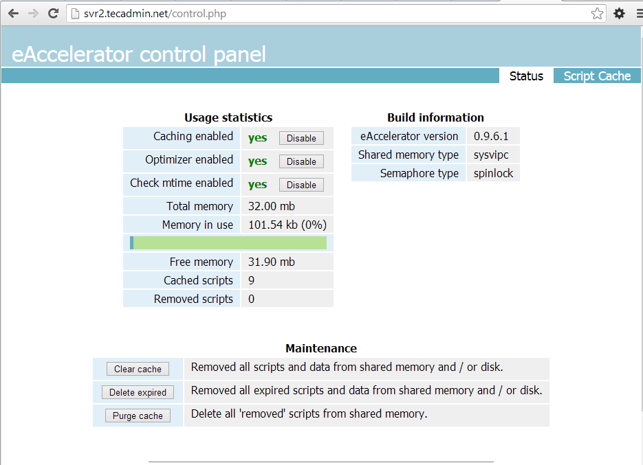 php-eaccelerator-control-panel