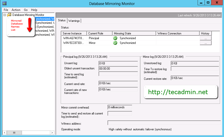 Setup Database Mirroring in SQL Server 2012 with Certificates