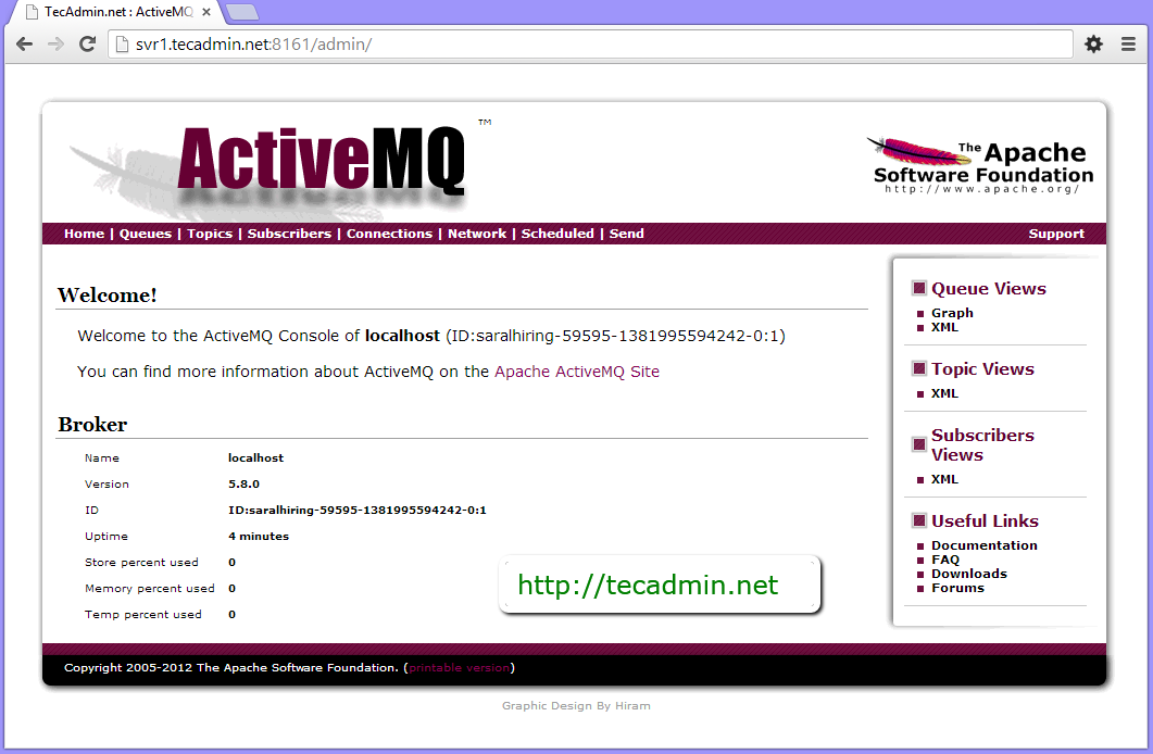 Install Apache ActiveMQ 5 8 0 on Centos, Redhat and Fedora - TecAdmin
