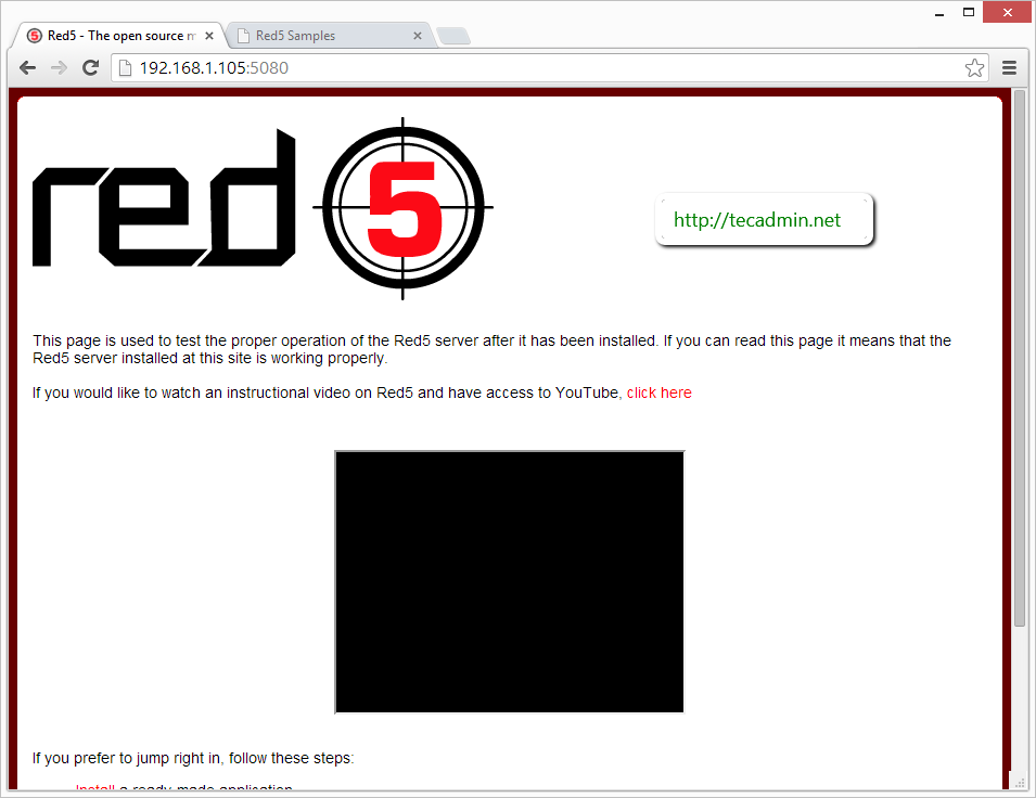 red5-start-page