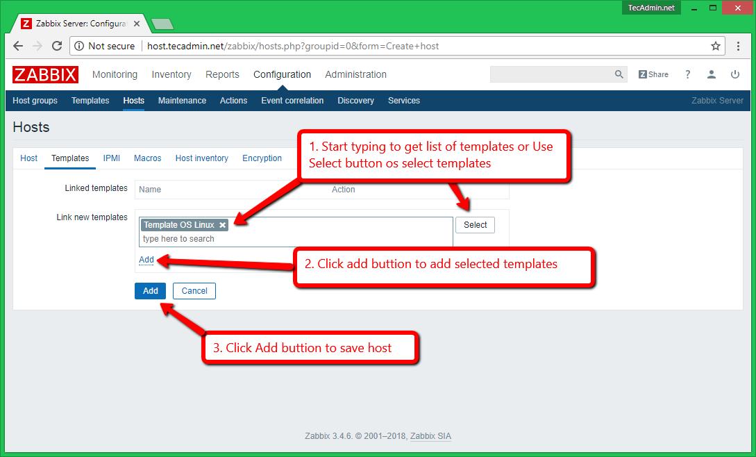 How to Add Host in Zabbix Server to Monitor – TecAdmin