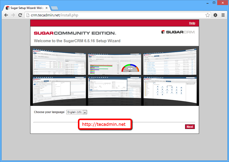 sugarcrm-install-step1