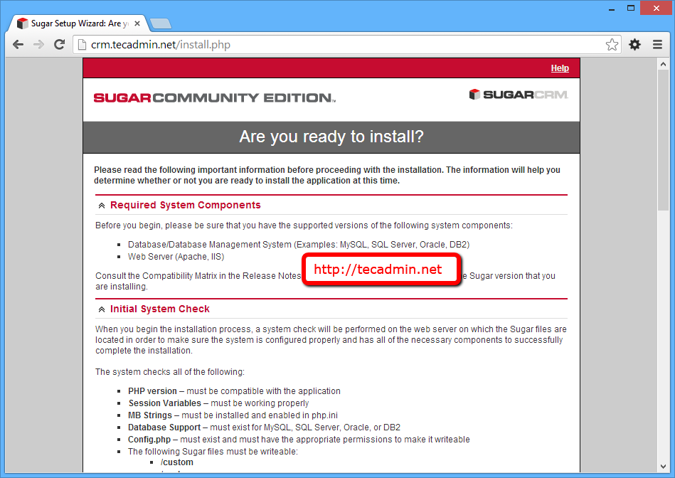 sugarcrm-install-step2