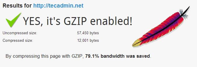 Enable Apache Gzip Compression