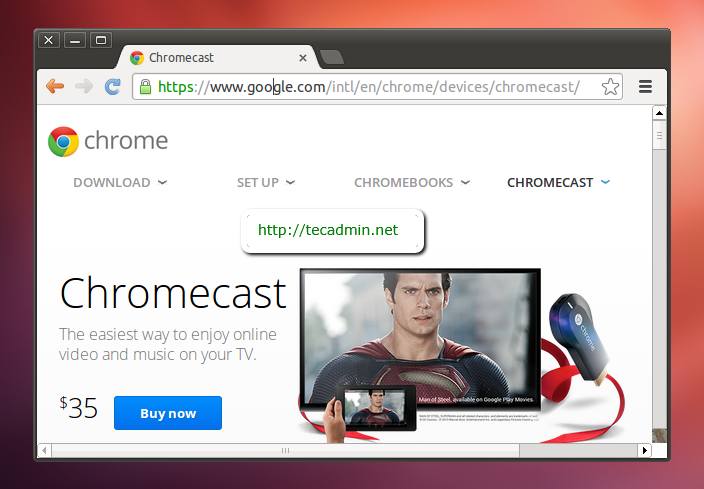 Install Google chrome