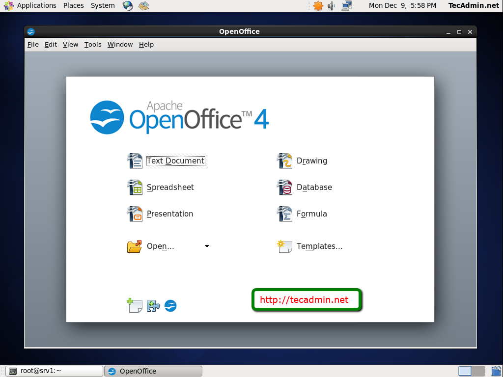 How to Install Apache OpenOffice 4 1 on Fedora 30/29