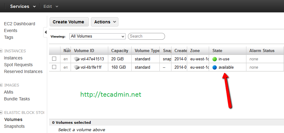 How to Create and Add EBS Volume in AWS Instanace – TecAdmin