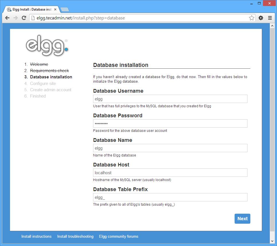 elgg-setup-step-3