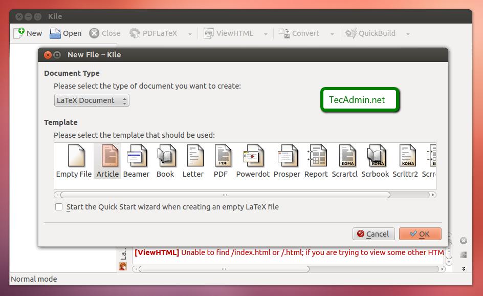 Kile-on-Ubuntu