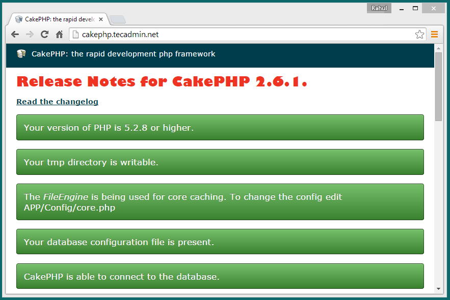 CakePHP 2.6.1 Release