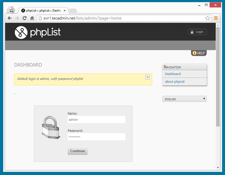 Setup PHPList (Opensource Newsletter Manager) with LAMP – TecAdmin