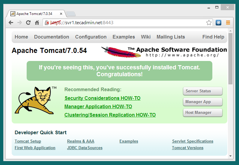 How to Configure SSL Certificate in Tomcat – TecAdmin