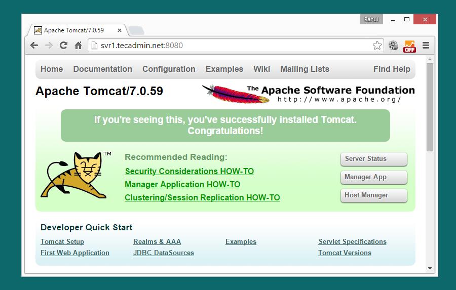 Install Tomcat