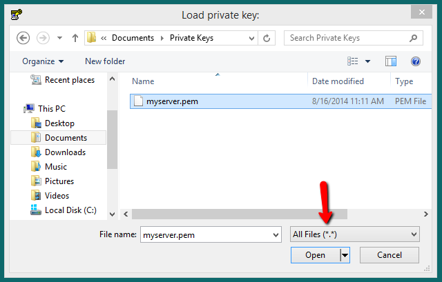 How to Convert  pem to  ppk private key ?