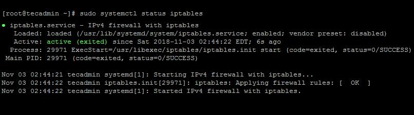 Iptables on CentOS7