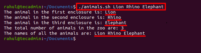 Parse Command Line Arguments in Shell Script