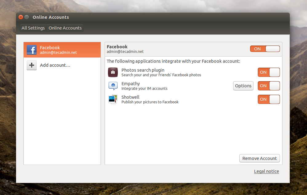 Ubuntu-Social-accounts