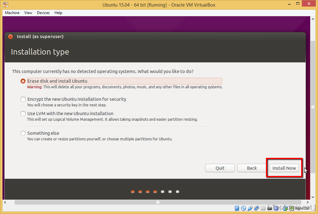 Install Ubuntu on VirtualBox Step 12