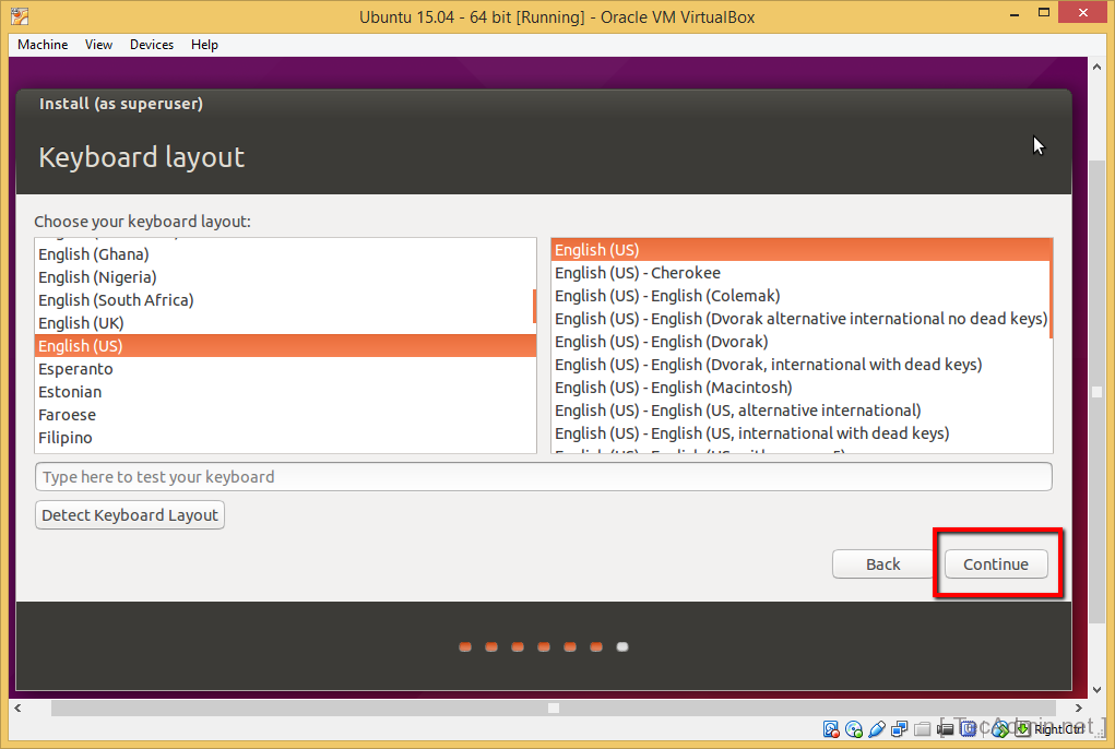 Install Ubuntu on VirtualBox Step 15