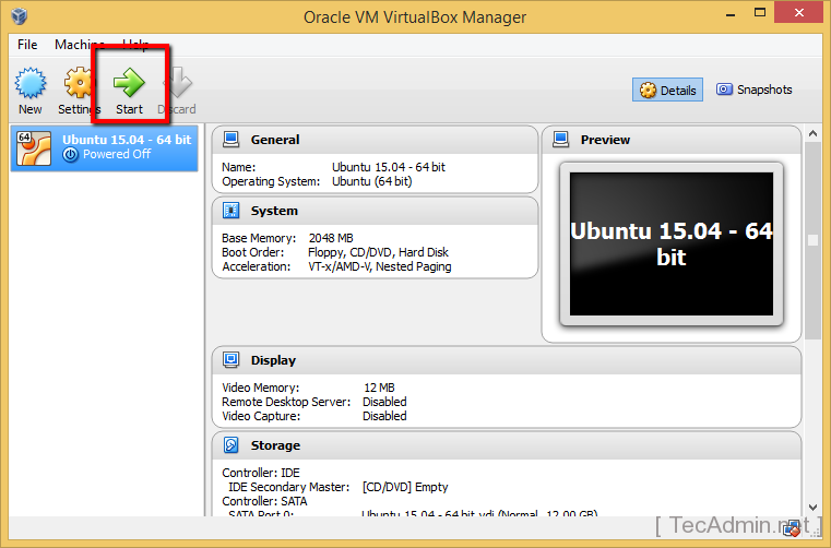 Install Ubuntu on VirtualBox Step 7