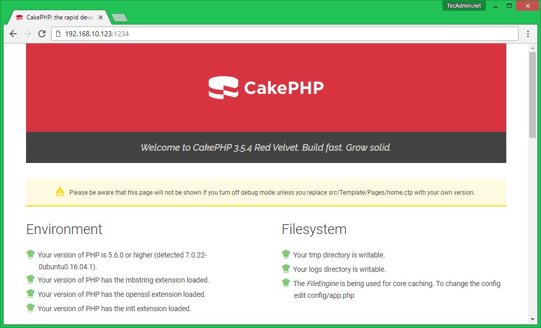 install cakephp on ubuntu