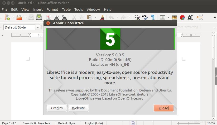 Install LibreOffice 5