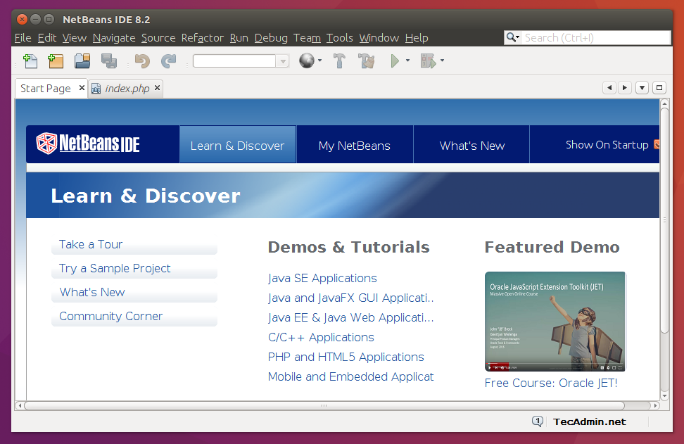 How to Install NetBeans IDE 8 2 (PHP) on Ubuntu Desktop - TecAdmin