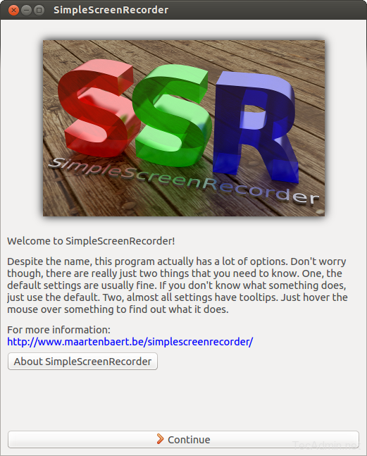 Install Simple Screen Recorder 1