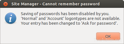 filezilla save passwords 1