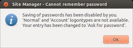 filezilla save passwords 1