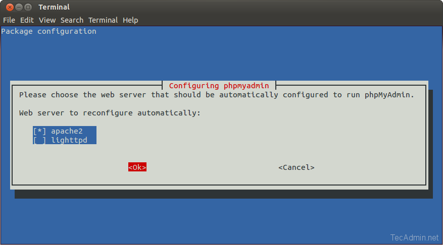 How To Install phpMyAdmin on Ubuntu 18 04 & 16 04 LTS - TecAdmin