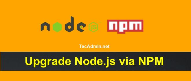 Upgrade Node.js