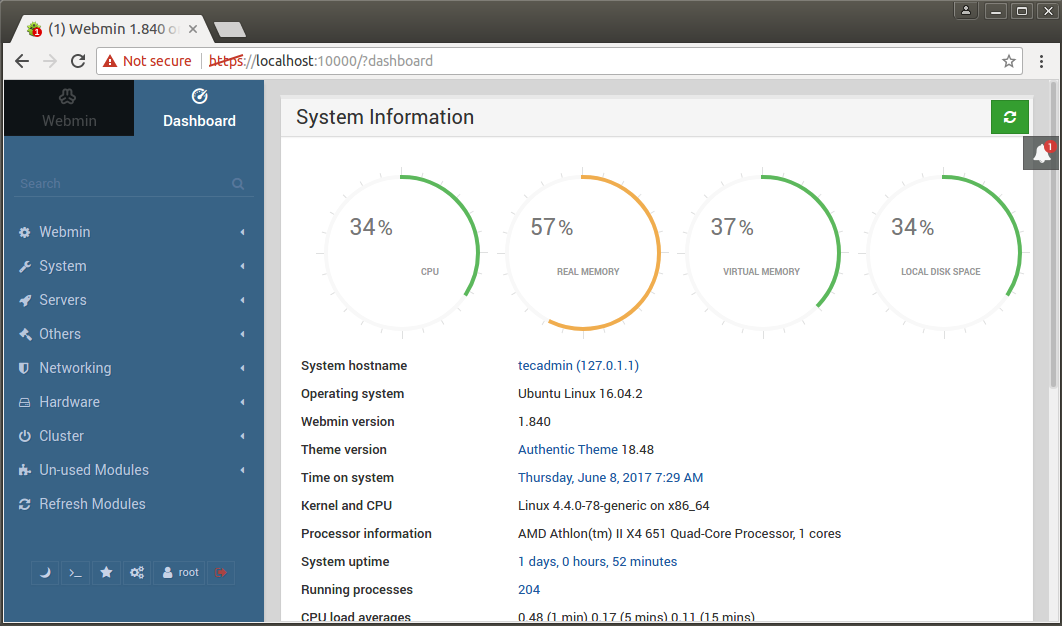 Install Latest Webmin 2