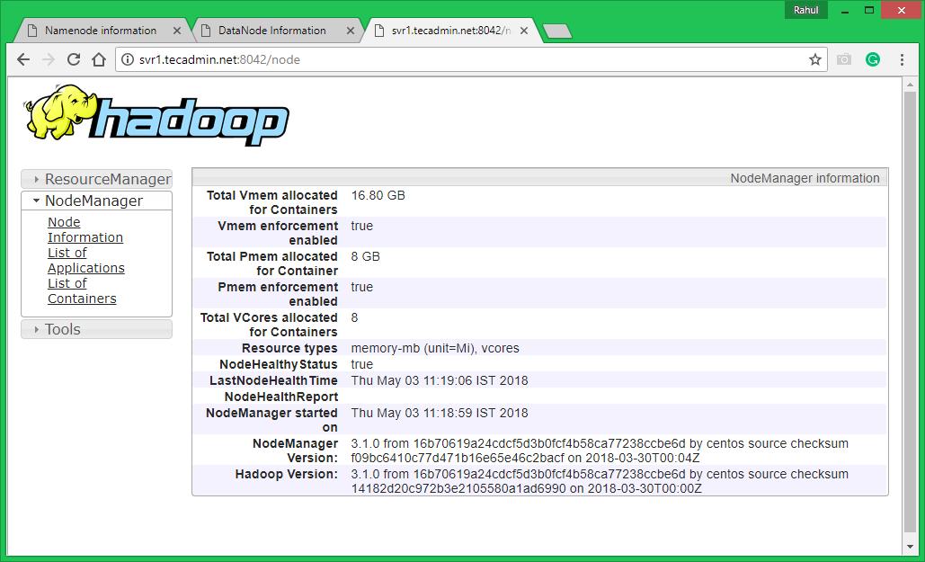 How To Setup Hadoop 3 1 on CentOS, Ubuntu & Debian