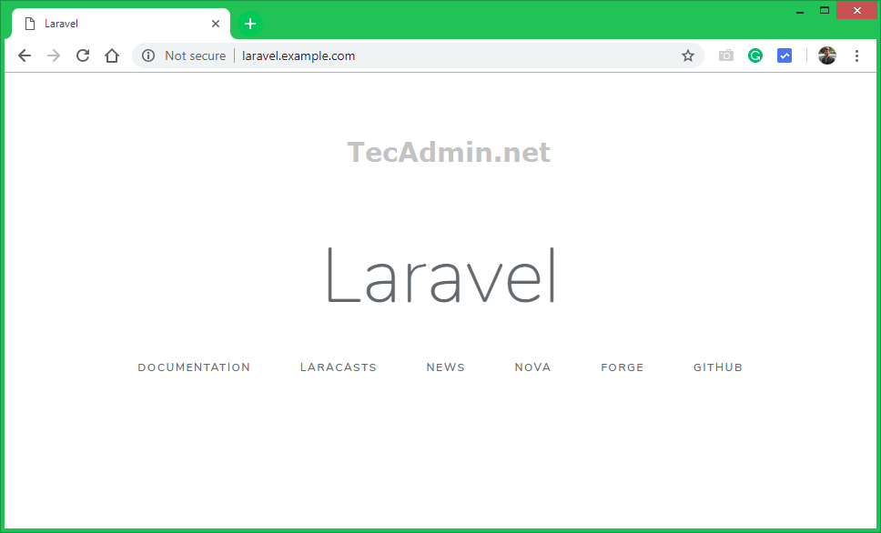 How to Install Laravel 5 on CentOS/RHEL 7/6 - TecAdmin