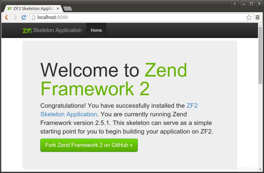 Install Zend Framework