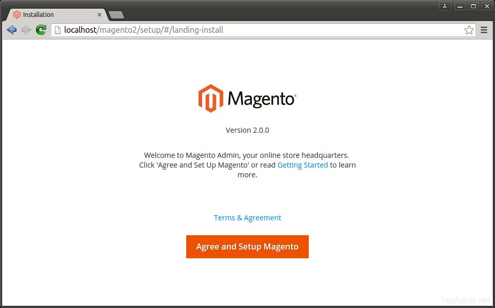 Install Magento 2 - Step 1
