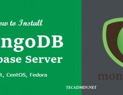 Install mongodb 3.4 CentOS