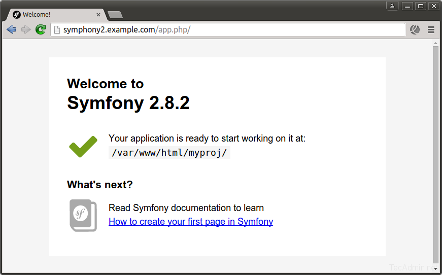 Install Symfony 2 Framework with Apache