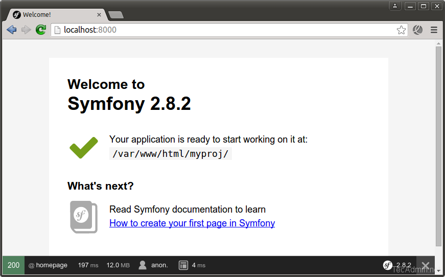 How To Install Symfony 2 Framework on Ubuntu, Debian & Mint