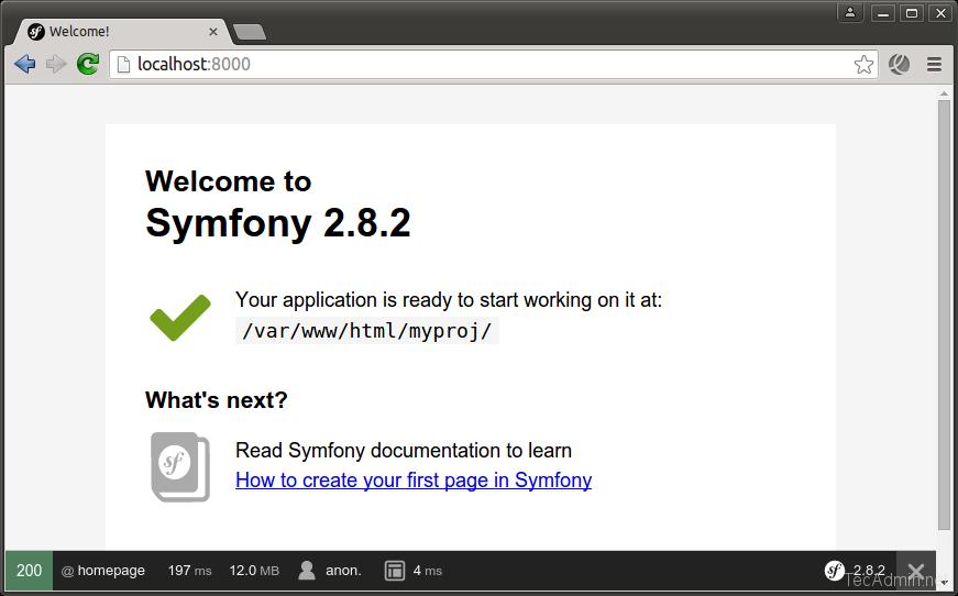 Install Symfony 2 Framework