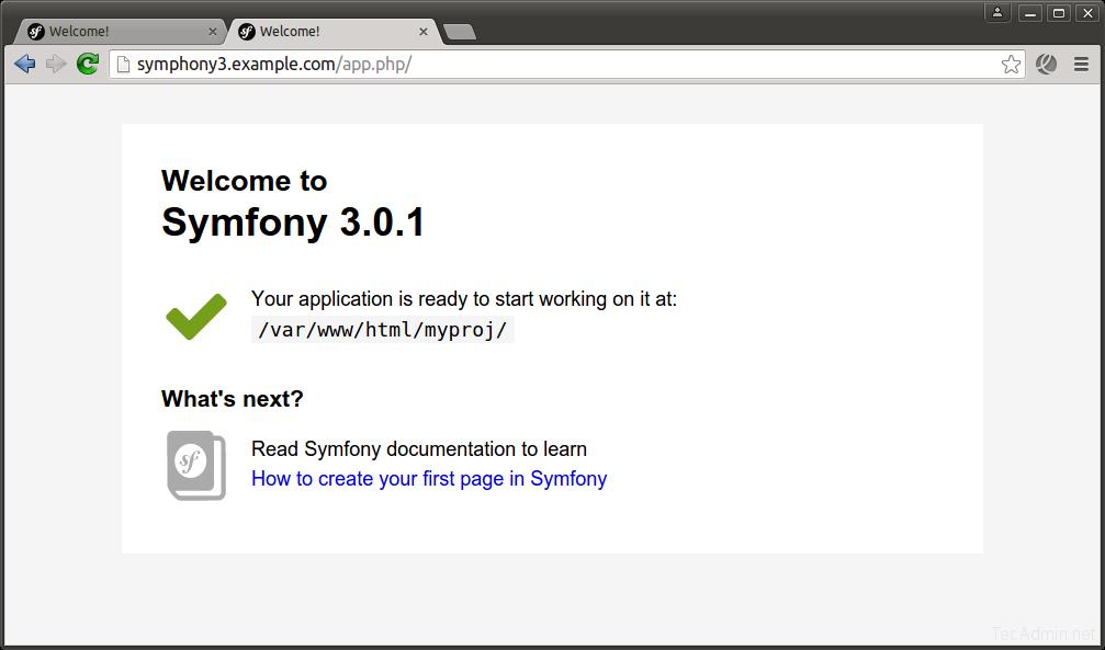 Install Symfony 3 with Apache
