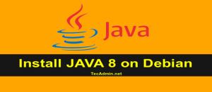 Install Java 8 on Debian