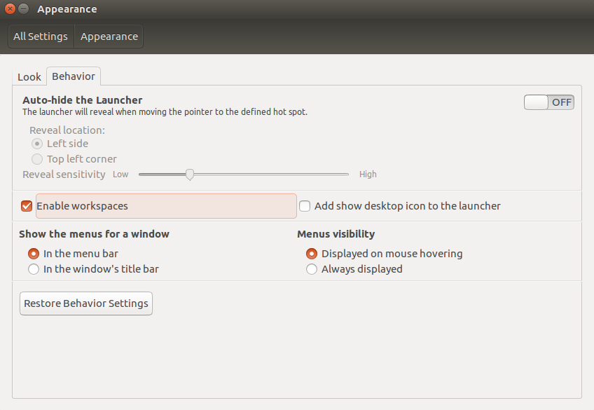 ubuntu-enable-workspace