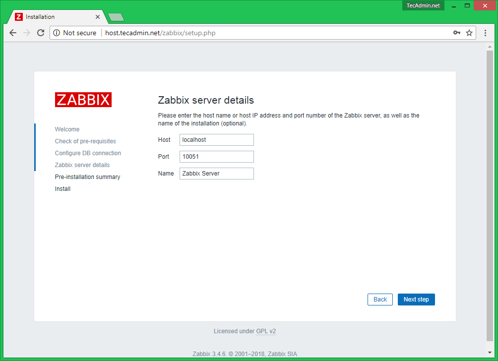 How To Install Zabbix Server 3 4 on CentOS/RHEL 7/6 - TecAdmin