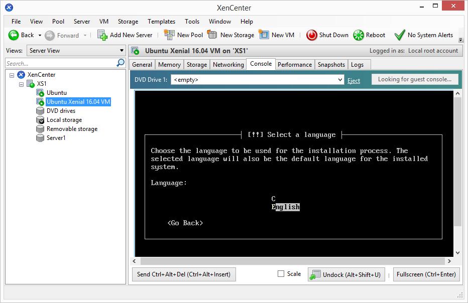 install-ubuntu-1604-in-xs-10