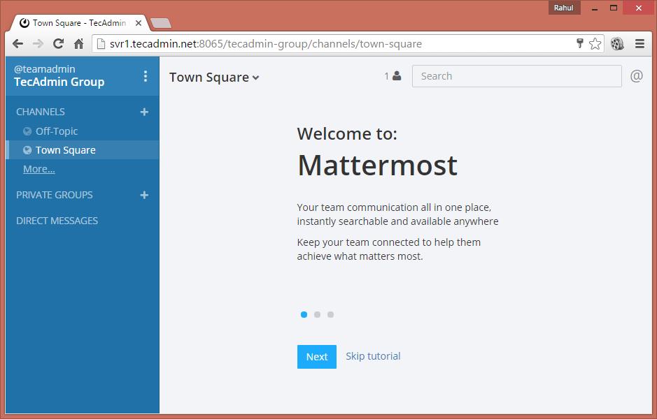 Install Mattermost with MySQL - 7